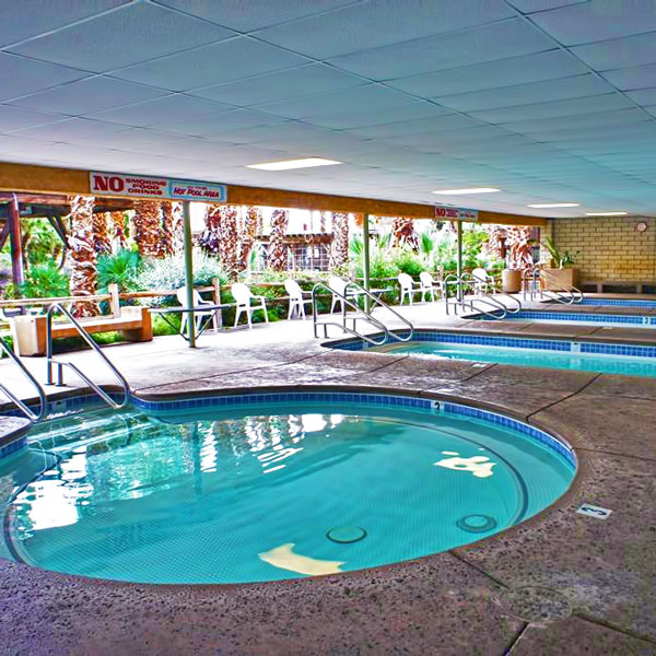 Our Palms Springs area mineral hot pools